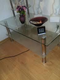 couchtisch wohnzimmer tisch glas chrom rega