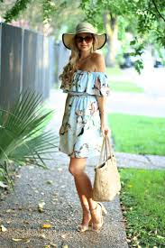 Cupcakes Cashmere Blue Off The Shoulder By Lifestyle And Fashion Blogger How To Style Summer Hats