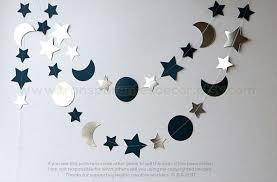 Silver And Blue Moon Stars Garland I Love You To The