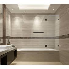 Bathtub Splash Guards Home Depot by Dreamline Unidoor X 58 In W X 58 In H Frameless Hinged Tub Door