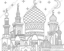 Adult Coloring Page Islamic Mosque Zentangle Doodle Book Pages For Adults Digital