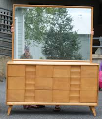 Heywood Wakefield Dresser With Mirror by Heywood Wakefield Trophy Mr U0026 Mrs Dresser W Mirror Champagne