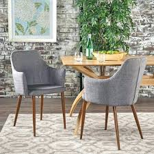 Upholstered Dining Room Chairs With Arms Mid Century Modern Fabric Chair Set Of 2 Uk