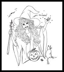 Scary Halloween Witch Coloring Pages by Free Halloween Color Pages