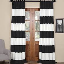 Striped Curtain Panels 96 by Exclusive Fabrics Cabana Cotton Horizontal Stripe 108 Inch Curtain