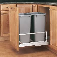 Under Cabinet Trash Can With Lid by Amazon Com Rev A Shelf 5349 2150dm 217 Double 50 Qt Pull Out