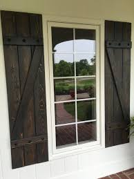 Shutters Outside New At Trend Country Rustic Outdoor