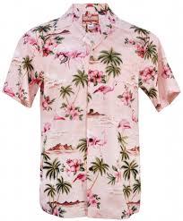 pink flamingo mens hawaiian aloha shirt in pink mens hawaiian