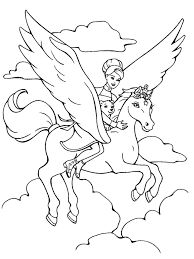 Fairy Unicorn Coloring Page Printable Download Free
