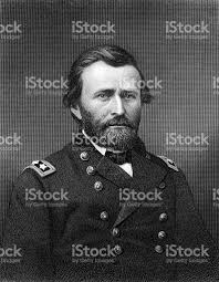 Portrait Of President Ulysses S Grant Royalty Free