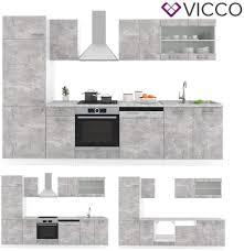 mit arbeitsplatten vicco küche r line 300cm küchenzeile