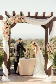 Perfectly Picturesque Peach Pink Palos Verdes Wedding Arch GreeneryWedding Arbor