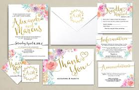 Floral Rustic BOHO Wedding Invitation Printable KraftWedding Suite RSVP Monogram Info Card Hand Lettered Typography