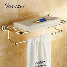 wand handtuchhalter messing goldene badezimmer zubehör home