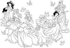 Princess Christmas Coloring Page