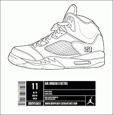 16 Pics Of Jordan Sign Coloring Page