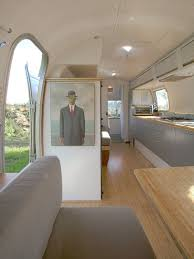 Restored Airstream Trailer With Natural Bamboo Flooring And Plywood Made By Hofmann Architecture