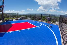 Backyard Basketball Court In Draper, Utah Multisport Backyard Court System Synlawn Photo Gallery Basketball Surfaces Las Vegas Nv Bench At Base Of Court Outside Transformation In The Name Sketball How To Make A Diy Triyaecom Asphalt In Various Design Home Southern California Dimeions Design And Ideas House Bar And Grill College Park Half With Hill