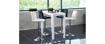 table de bar design laqué blanc alex miliboo