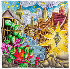 Old English Village From Lizzie Mary Cullens Book Magical City Coloring Was