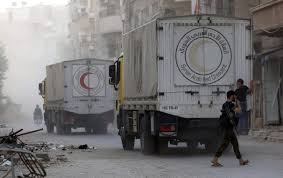 100 Nation Trucks WATCH Russian Video Of Syria Aid Before Airstrike Heavycom