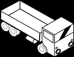 100 Semi Truck Clip Art 19 Truck Graphic Black And White Download Black And White HUGE