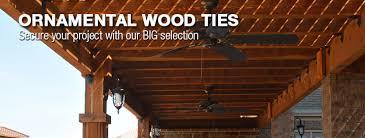 2 x 6 decorative joist hangers ornamental wood ties at menards