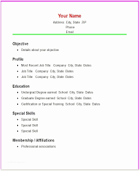 Easy Resumes Simple Resume Samples Template Builder