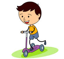 Kid Riding A Three Wheel Scooter Clipart 6215 Size 96 Kb From Children