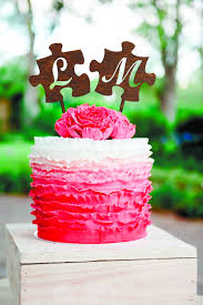 Letter L Cake Topper Puzzle Wedding Toppers Gold Monogram M