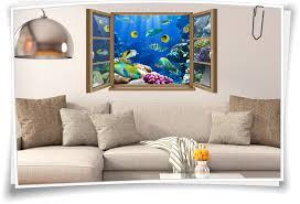 wand wand bild fenster fische riff aquarium unter
