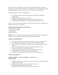 Assistant Buyer Resume Best Of Fashion Stylist Examples Resumes