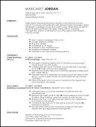 Free Executive Digital Marketing Manager Resume Template