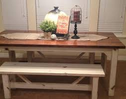 Kitchen Decorative Rustic Nail Farm Style Table And Benches To Match Image Of Fresh In Design Tables With Curious