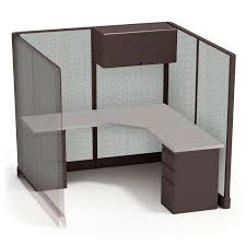 Fastcubes High Cubicle Single Workstation Configuration Provides Privacy While Standing And Enough Room For Employees To Carry Out Almost Any Task
