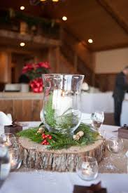 Rustic Winter Wedding Centerpieces