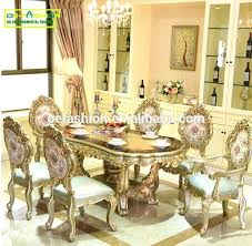 Marble Table Set Gold Dining Luxury Newest Style Classic Rectangle Hand Carving Top