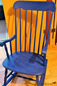 100 Navy Blue Rocking Chair With Grain Sack Cushion Homeroad