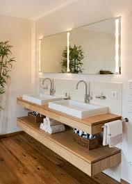 bathroom vanity idea an open shelf below the countertop
