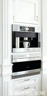 Miele Built In Coffee Maker Super Kitchen Trends Sleek Ins And Espresso By Microwave Wolf Sharp