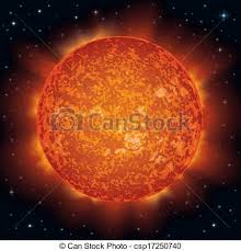 Sun In Space Background Realistic Star And Eps Vector