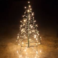 Lighted Warm White LED Outdoor Christmas Tree Christmas Cheer Ho
