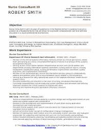 Nurse Consultant III Resume Sample