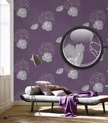 lila schlafzimmer für wohnzimmer florale tapete made in