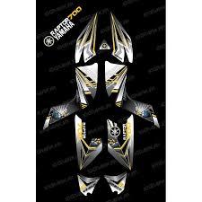 kit deco 250 raptor kit décoration flash jaune idgrafix yamaha 700 raptor kit de