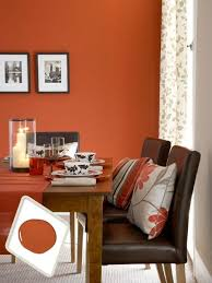 Best Colors For Living Room Accent Wall by Best 25 Orange Dining Room Ideas On Pinterest Orange Hallway