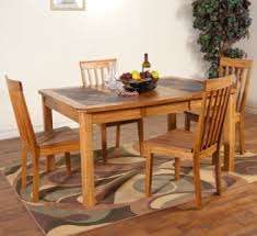slate tile top dining tables set dining table design ideas
