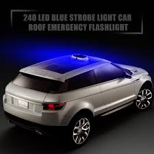 Features 240 Led Blue Strobe Light Car Roof Emergency Warning ...