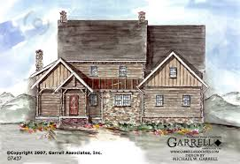 Timber Stone Cottage House Plan