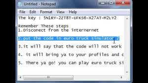 100 Euro Truck Simulator 2 Key KEY 018 YouTube